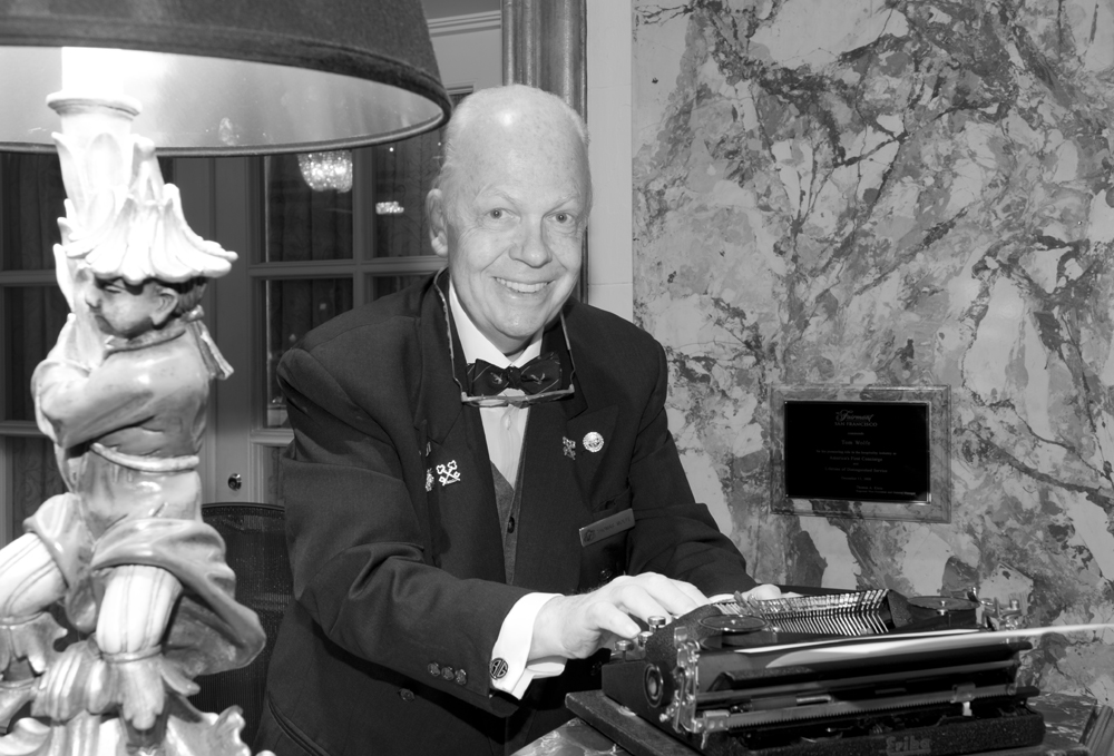 Tom, who was the US's first-ever concierge and who speaks five languages, founded the US branch of the international concierge association, Les Clefs D'Or.