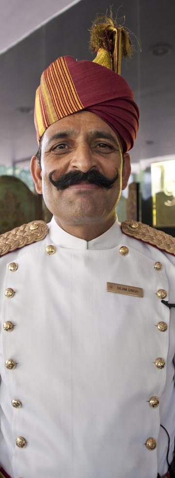 Silam Singh, the doorman at the Oberoi New Delhi