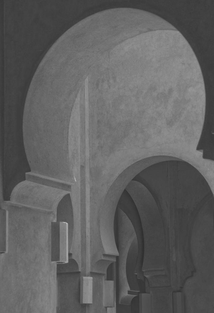 Arches at the Amanjena Hotel Marrakesh.