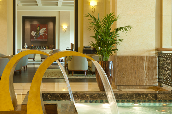 Water features at the Fairmont Dubai