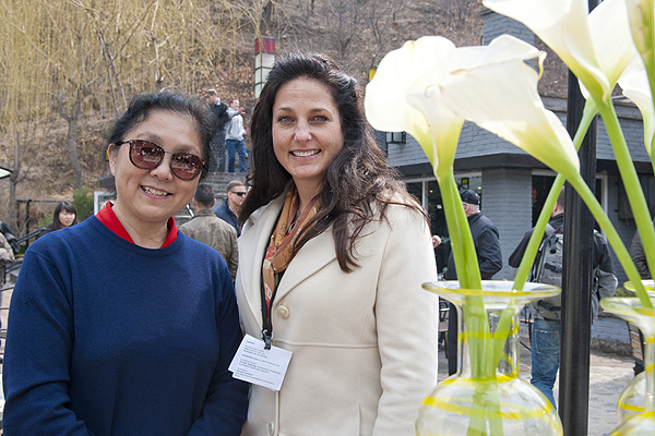 TWO FEMALE FOUNDERS Liang Tang of The School house with Annalisa Roger from The DotGreen Foundation.