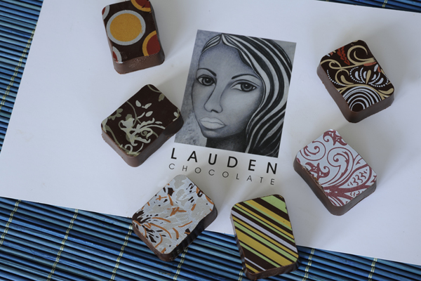 Each flavour of chocolate has its own indivual design.