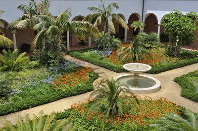 The Mediterranean gardens of Hotel Finca Cortesin.