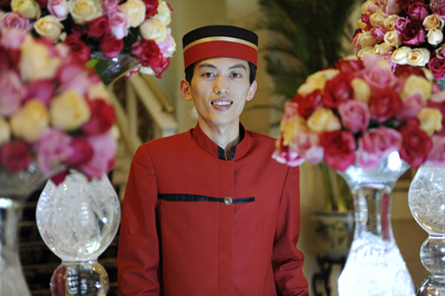 Raffles Hotel Beijing, in full bloom.