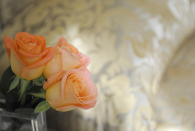 Bedside Roses from The Argentine. The Alvear Hotel, Buenos Aires.