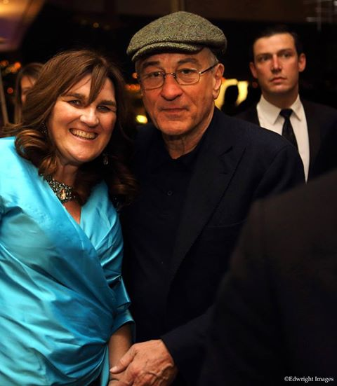 Michelle Chaplow and Robert De Niro