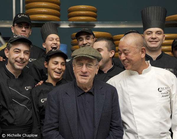 Robert De Niro Chef Nobu and his team at the Fairmont Monte Carlo