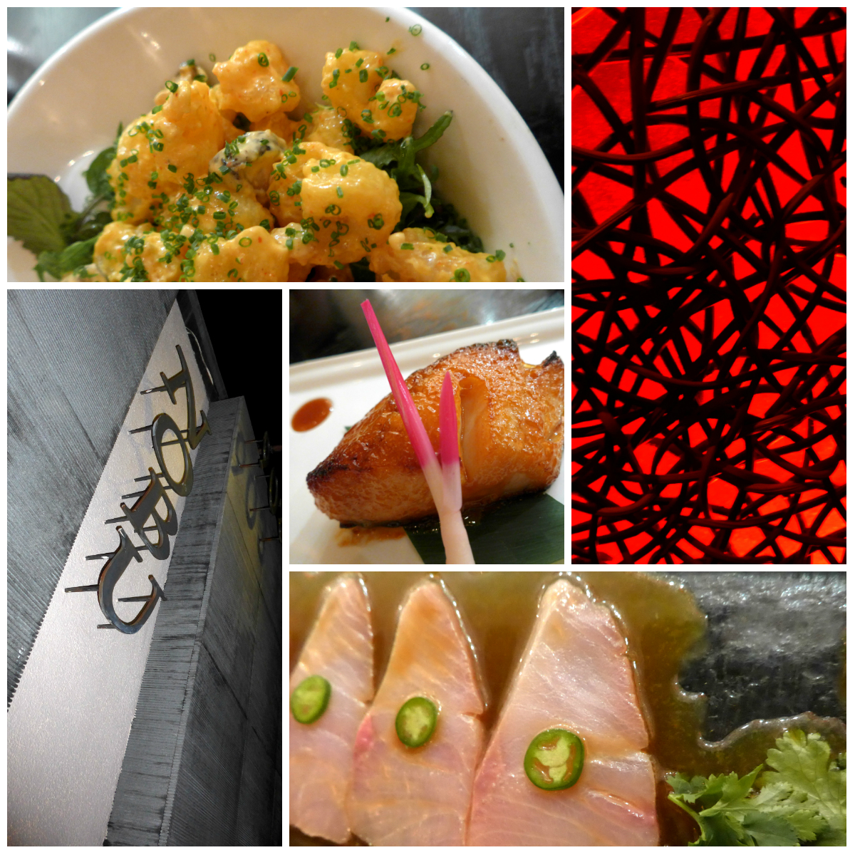 Signature dishes from Nobu Los Angeles