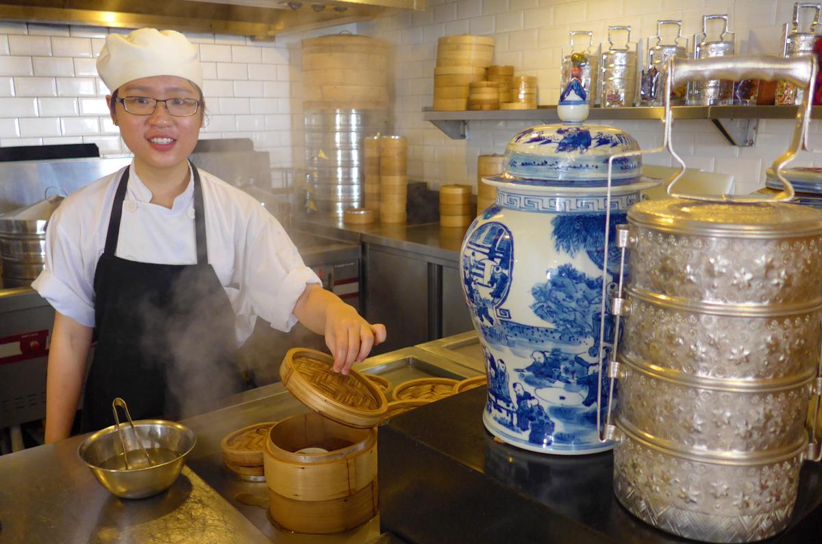 Freshly-made Chinese dumplings