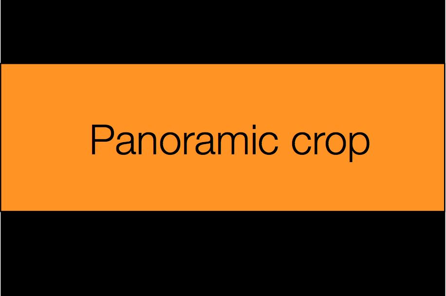 The orange area denotes the panoramic crop
