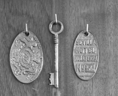 Old keys from 1960´s in the display cabinet