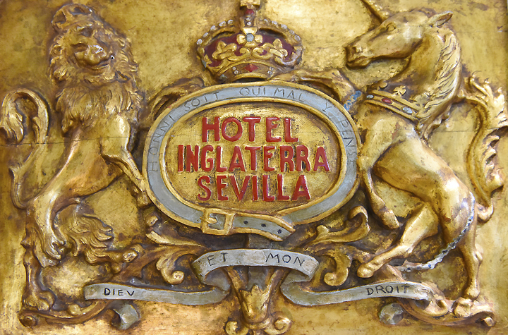 The Crest of the Hotel Inglaterra Seville