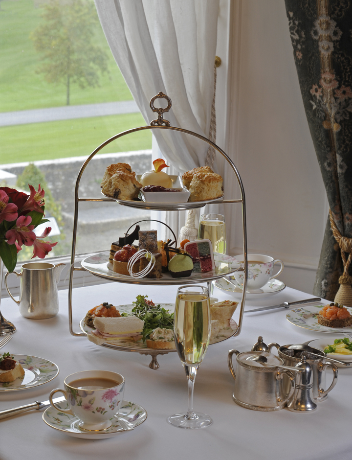 Afternoon tea at Dromoland Castle.