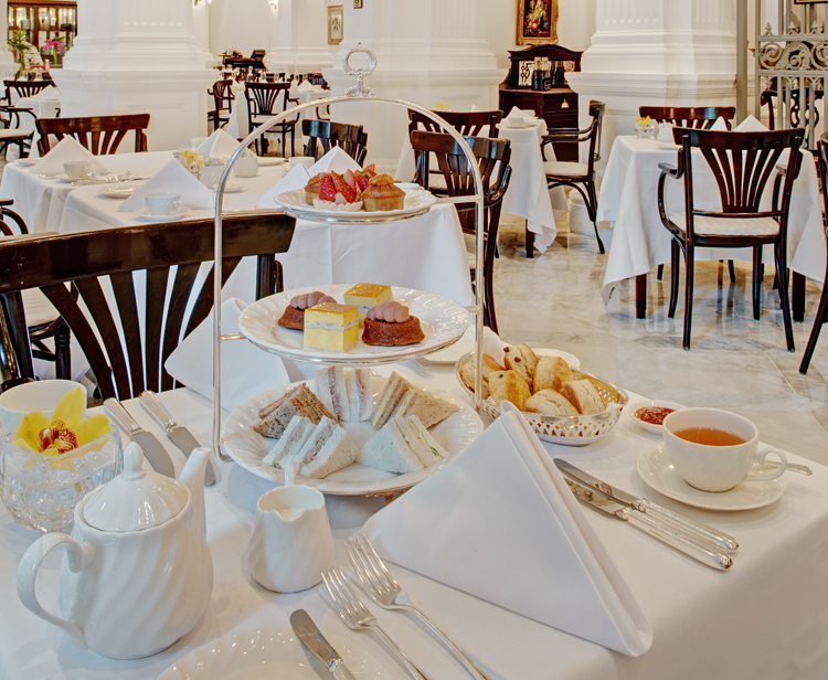 The three tier cake stand at Raffles Hotel Singapore