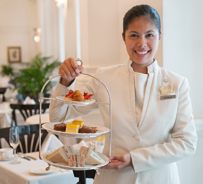 The perfect Afternoon tea served at Raffles Hotel Singapore