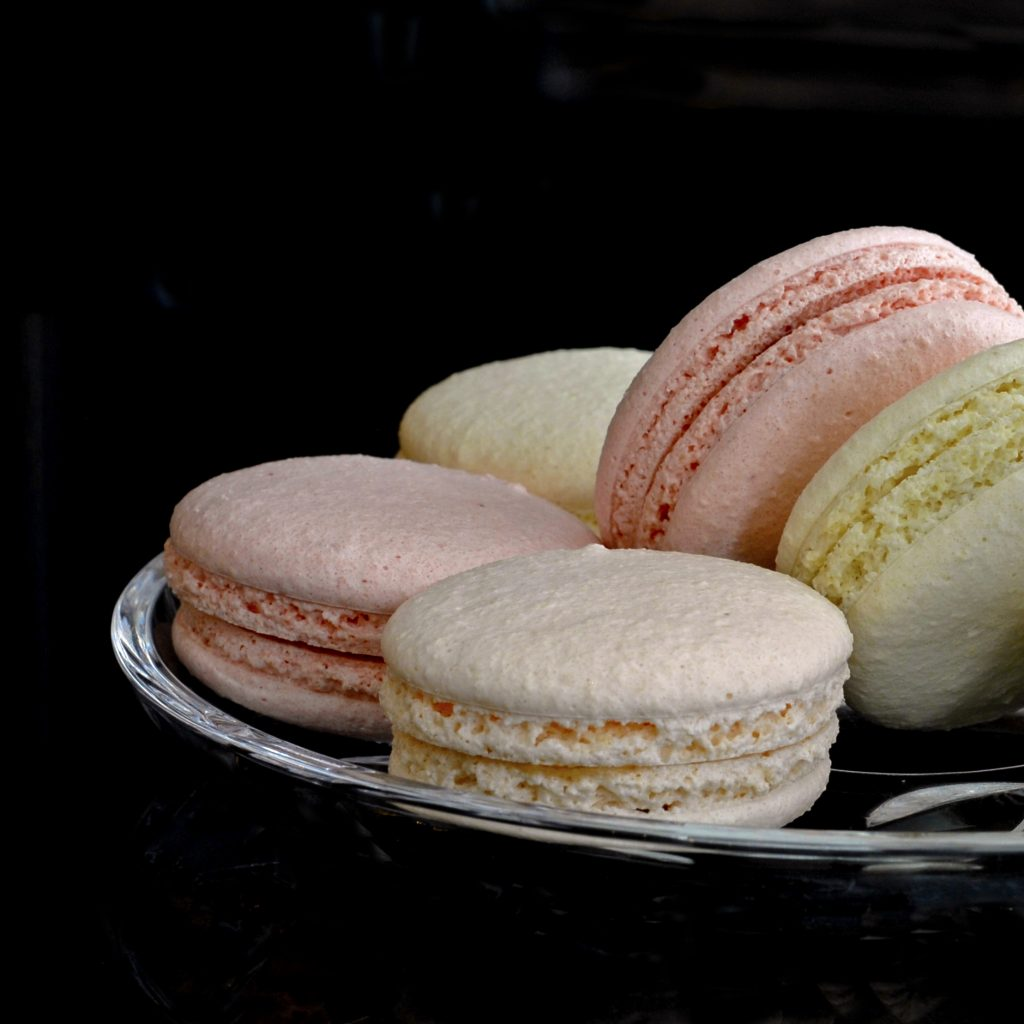 Delicate Parisian-style Macaroons, seved at the Waldolf Hitton
