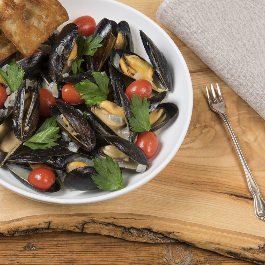 Food Photography, Mussles, St James Hotel, Red Wing Minnesota