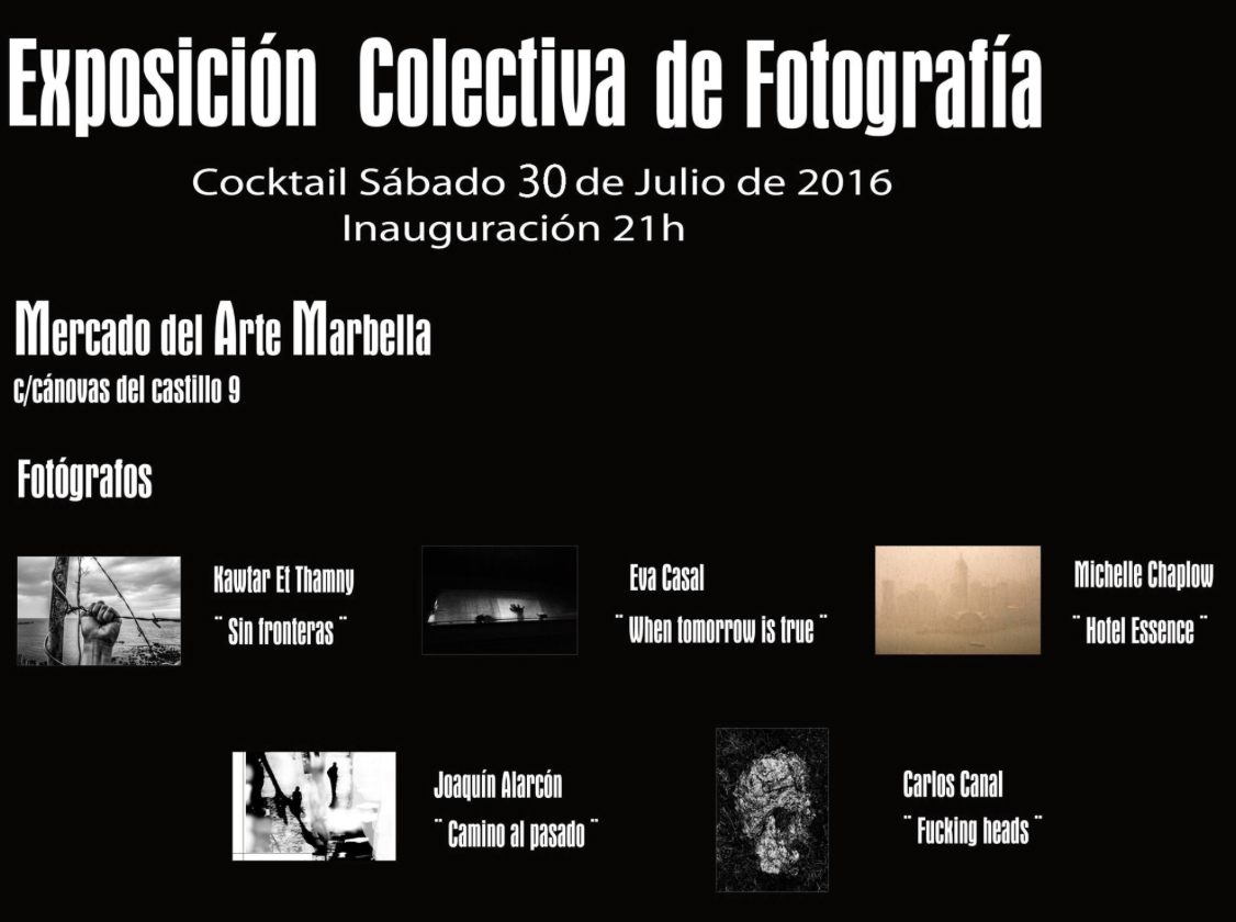 Collective photography Exhibition, Mercado de Arte Marbella
