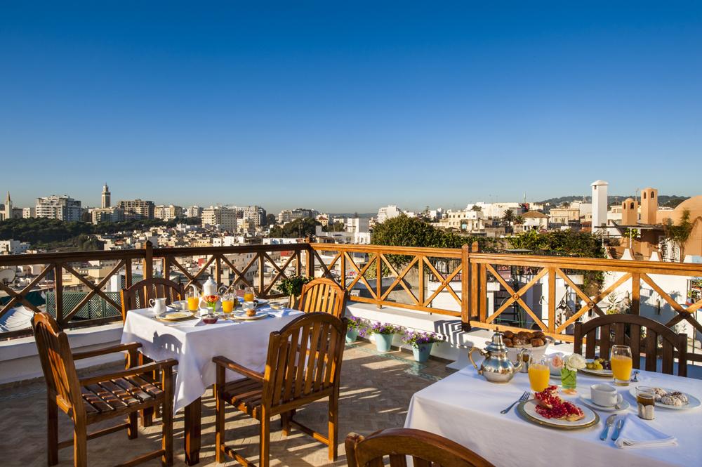 La Maison Blanche, rooftop breakfast