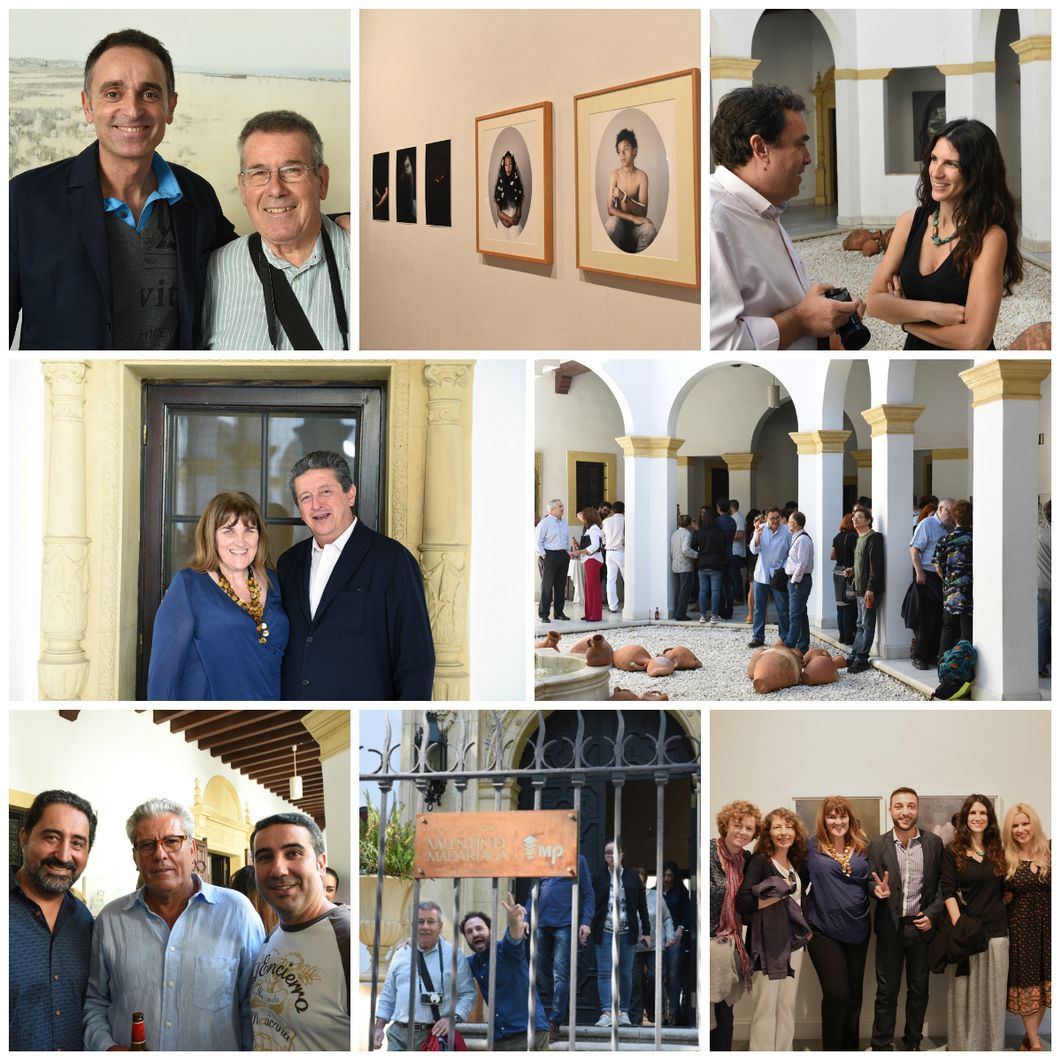 The opening of the Spin Off exhibition at the Fundacion Valentin Madariaga