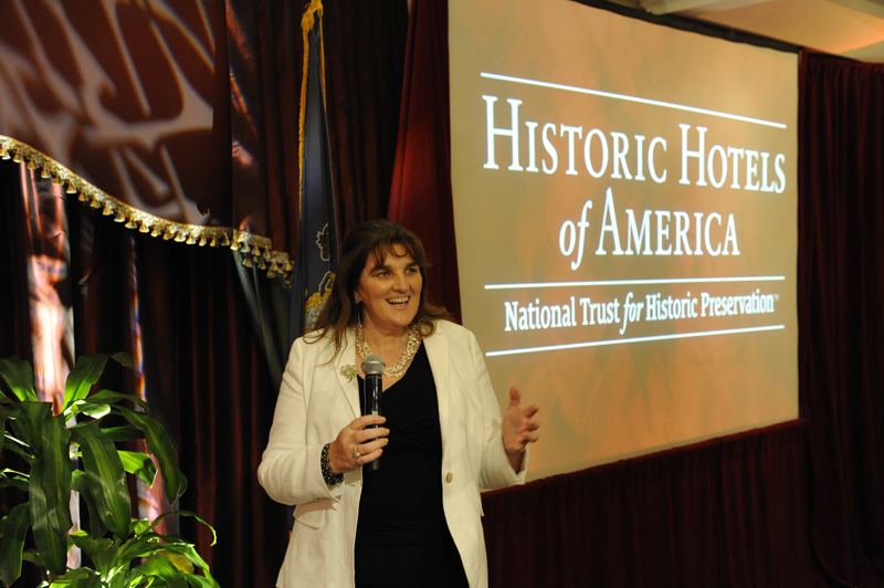 Michelle Chaplow, speaking at Historic Hotels America in Hershey, Pennsylvania 2014