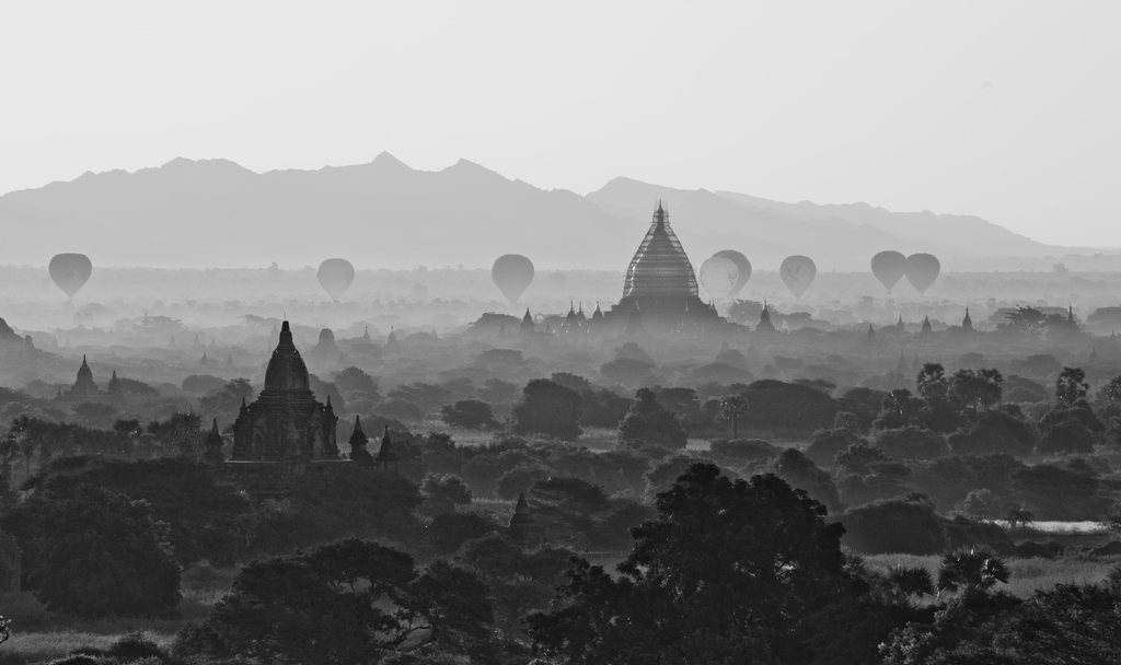 Balloons over Bagan by Michelle Chaplow