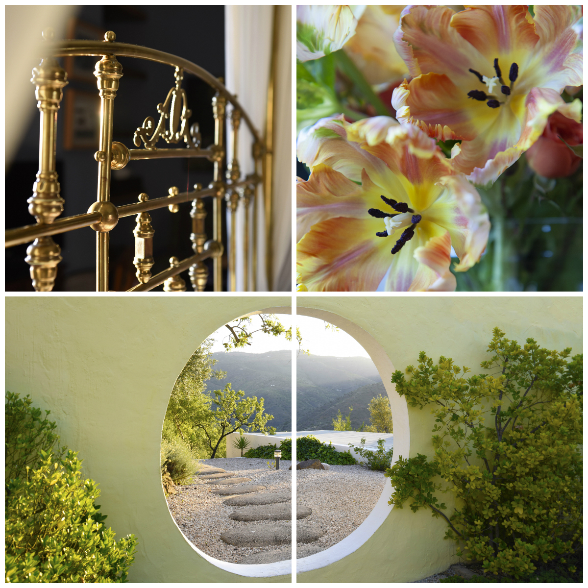 "Creating ""a sense of place"". The sunrise at Casa Vesta, architecture from The Fountainhead and flowers from Benbow Hstoric Inn"