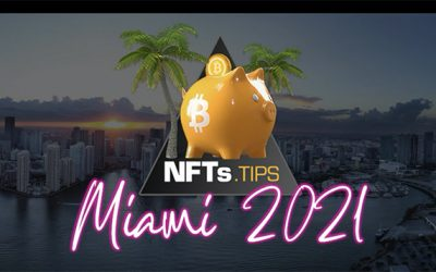 Miami Bitcoin conference June 1-6, 2021, featured the NFT artwork of Michelle Chaplow